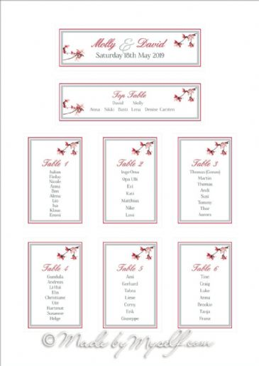 Blossom Table Plan